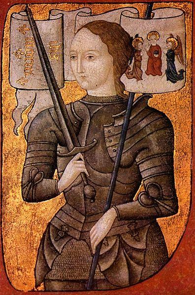 Joan of Arc Miniature (Painted 1450-1500)
