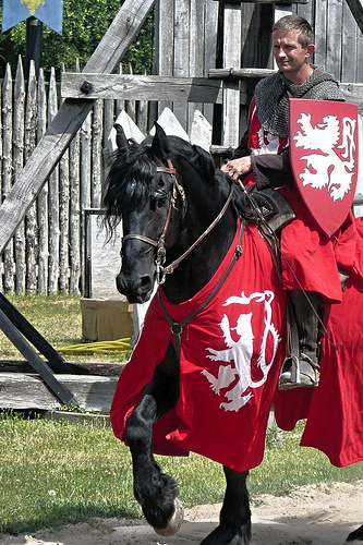 Medieval reenactment at Bluebeard's Castle