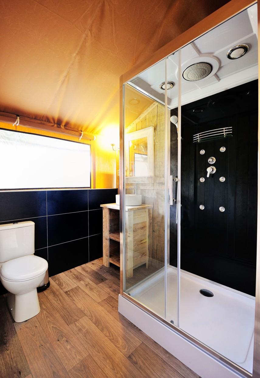 Safari Tent shower room
