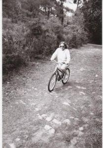 Woohooo - riding the bike!