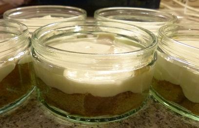 Tiramisu layer cream