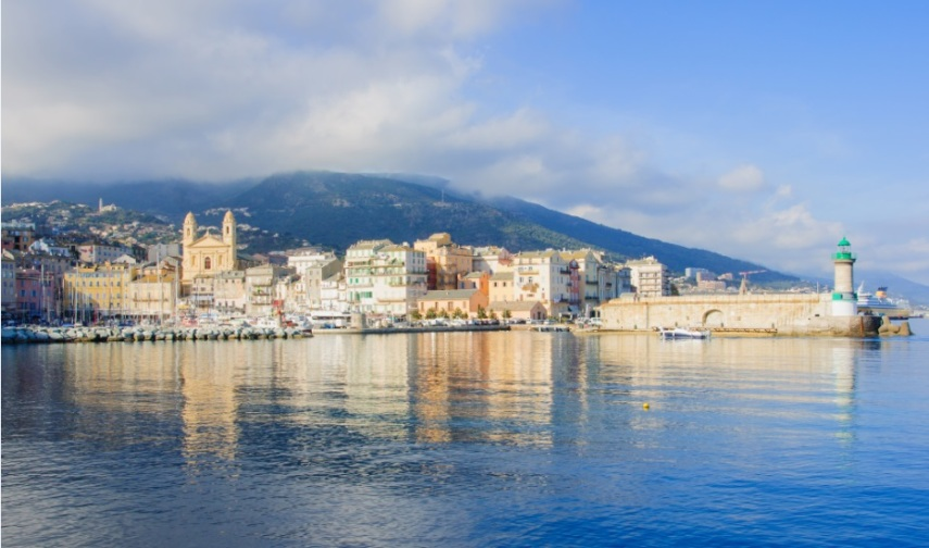 Bastia from the water