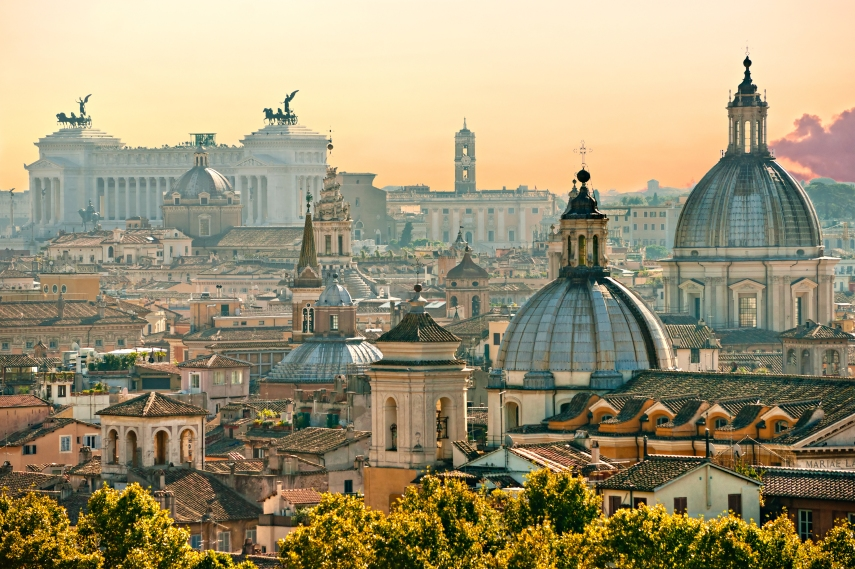 Rome from the rooftops